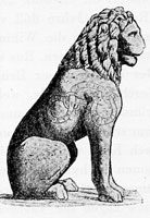 Byzantine lion with runic inscriptions